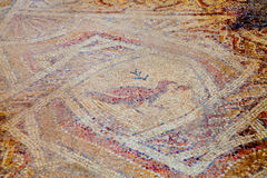Fragmant of ancient Hellinistic mosaic Stock Photo