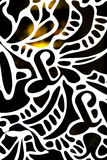 Fragment of abstract ornament. On glass with warm illumination from inside Royalty Free Stock Photo