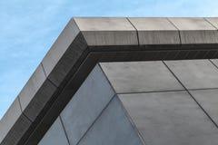 Fragment abstrait d'architecture, coin extérieur images libres de droits