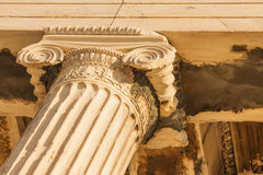 Fragment from Acropolis of Athens, Greece. Royalty Free Stock Images