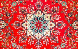 Fragment of age-old east carpet Royalty Free Stock Photos