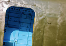 Fragment of the airplane Stock Photos