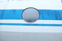 Fragment of airplane Stock Photography
