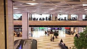 Fragment of airport interior in Baku, Baku Heydar Aliev International airport stock footage