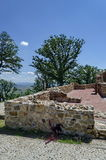 Fragment along the medieval church Ascension, of prevails Mali town or Stari Mali grad Stock Photography