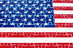 Fragment of American flag from puzzle Stock Photography