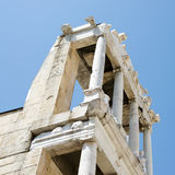 Fragment of the ancient amphitheater, Plovdiv, Bulgaria Stock Image