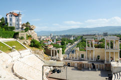 Fragment of the ancient amphitheater, Plovdiv, Bulgaria Stock Photo