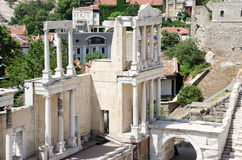 Fragment of the ancient amphitheater, Plovdiv, Bulgaria Royalty Free Stock Image
