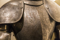 Fragment of ancient armor Royalty Free Stock Photography