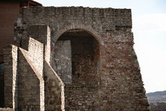 Fragment of an ancient bastion. Hungary Royalty Free Stock Images