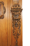A fragment of an ancient carved furniture closeup Royalty Free Stock Images