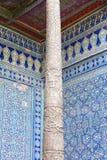 Fragment of an ancient carving on a column . Khiva, Uzbekistan stock photos