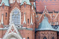 A fragment of an ancient church in Krakow Royalty Free Stock Images