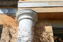 Fragment of ancient column of a historic building Royalty Free Stock Image