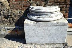 Fragment of an ancient column Royalty Free Stock Photos