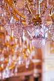 Fragment of an ancient crystal chandelier. Royalty Free Stock Images