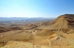 Negev Desert. Fragment of ancient desert under dramatic sky. Desert Negev, Israel Stock Photos