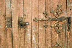Fragment of ancient door. Closeup Royalty Free Stock Photography
