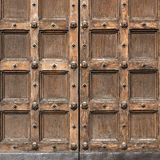 Fragment of an ancient door Royalty Free Stock Photo