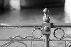 Fragment an ancient fence closeup of monochrome tone Royalty Free Stock Photo