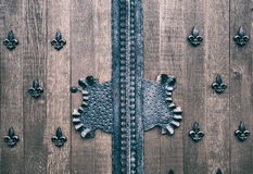 Fragment of the ancient gates Royalty Free Stock Photo