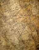 fragment of ancient map Stock Image