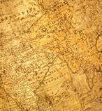 Fragment of ancient map Royalty Free Stock Image
