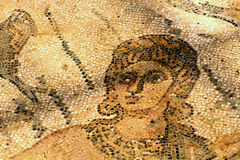 A fragment of an ancient mosaic Villa del Casale. Royalty Free Stock Images