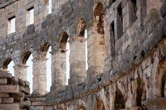 Fragment of ancient Roman amphitheater Royalty Free Stock Photos