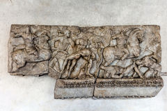 Fragment of the ancient Roman Sarcophagus Royalty Free Stock Photos