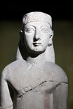 Fragment ancient sculpture of woman Stock Photos
