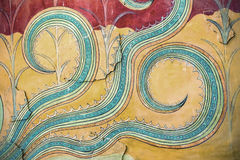 A fragment of ancient wall paintings. The Palace of Knossos, Cre Royalty Free Stock Images