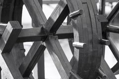 Fragment of the ancient wooden block or wheel Royalty Free Stock Image