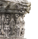 Fragment of antique columns on white background Stock Image