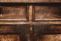 Fragment of antique furniture. Vintage wood surface. grunge background, old rough texture Royalty Free Stock Image