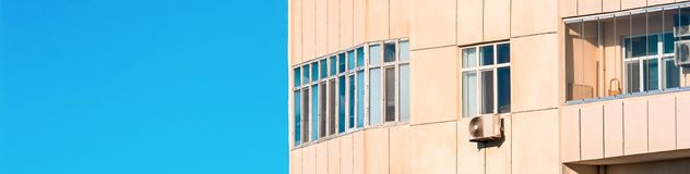 Fragment of  apartment house Royalty Free Stock Photos