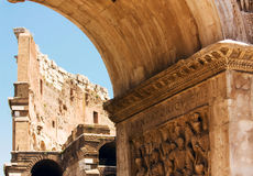 Fragment of an arch of Konstantin and the Collosse Royalty Free Stock Images