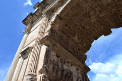A fragment of the Arch of Titus Royalty Free Stock Photography