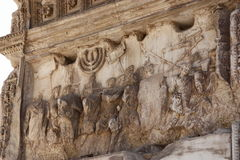 Fragment of the Arch of Titus in Rome Royalty Free Stock Images