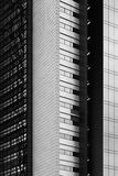 Fragment architectural abstrait en noir et blanc Images libres de droits