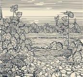 Fragment Art, Hand drawn Royalty Free Stock Photography