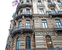 Fragment of Art Nouveau architecture in Riga Royalty Free Stock Images