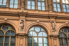 Fragment of Art Nouveau architecture style of Riga city , Latvia Stock Photo
