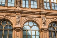 Fragment of Art Nouveau architecture style of Riga city , Latvia Royalty Free Stock Photos