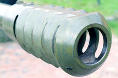Fragment Artillery gun. Royalty Free Stock Photography