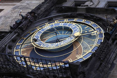 Fragment of astronomical clock Royalty Free Stock Photo