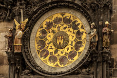 Fragment of Astronomical Clock in Prague. Stock Image