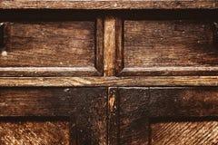 Fragment av antikt möblemang Wood yttersida för tappning grungebakgrund, gammal grov textur Royaltyfri Bild