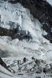 Fragment av berget och glaciären royaltyfri foto